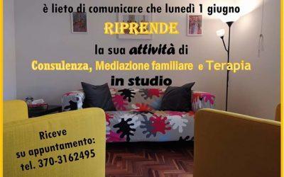 RIAPERTURA STUDIO