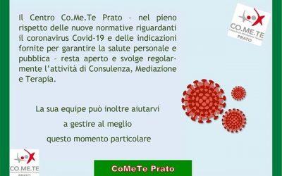 Informazioni interne – Nuove normative Coronavirus Covid-19
